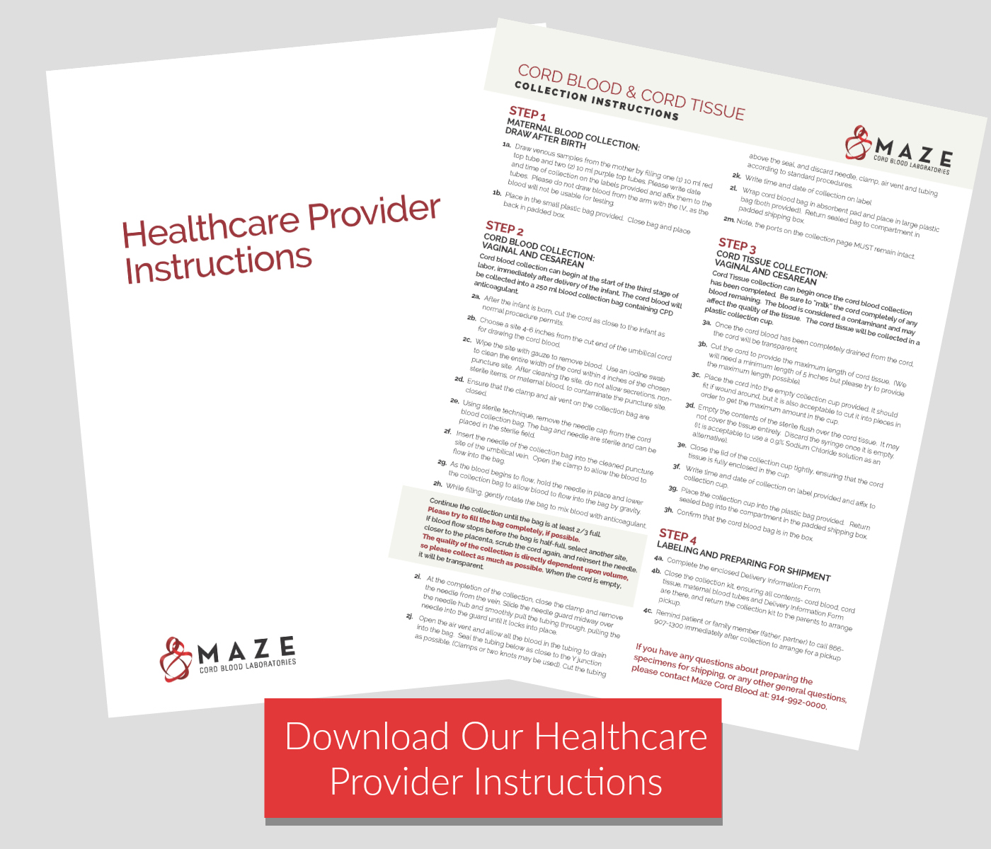 Download our healthcare provider instructions